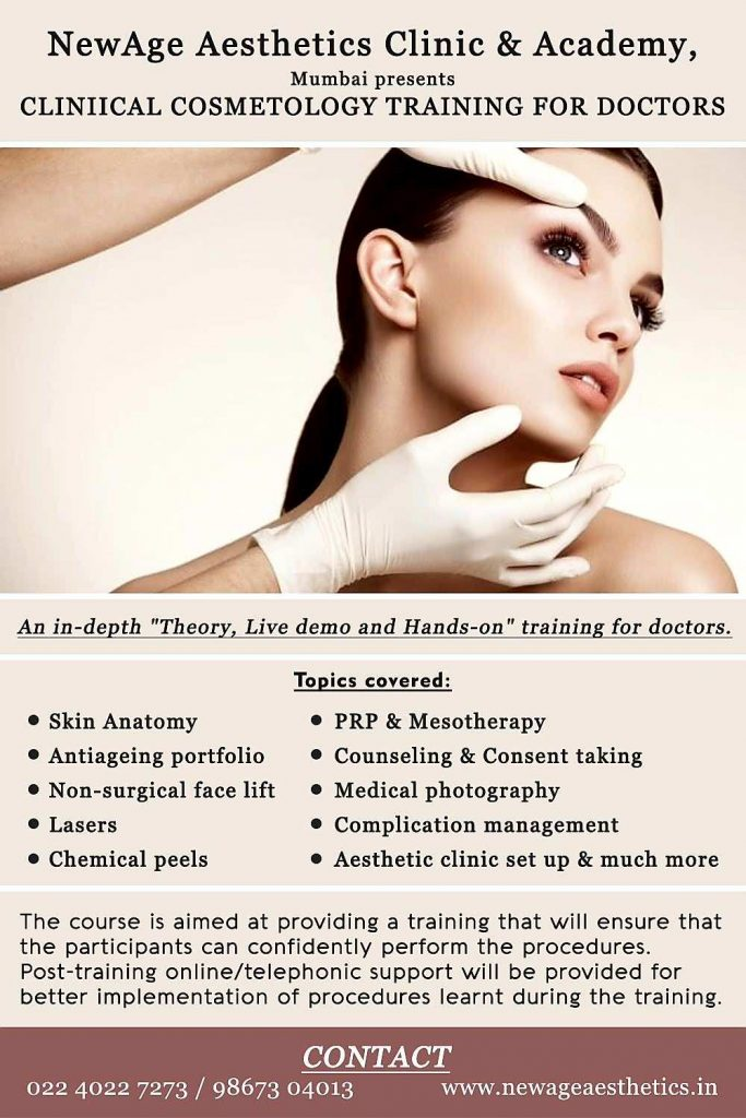Clinical Cosmetology Courses for doctors, graduates, beauty